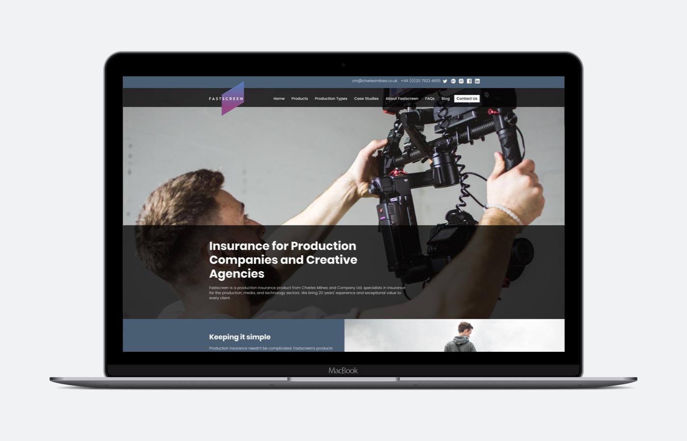 Fastscreen's website goes live