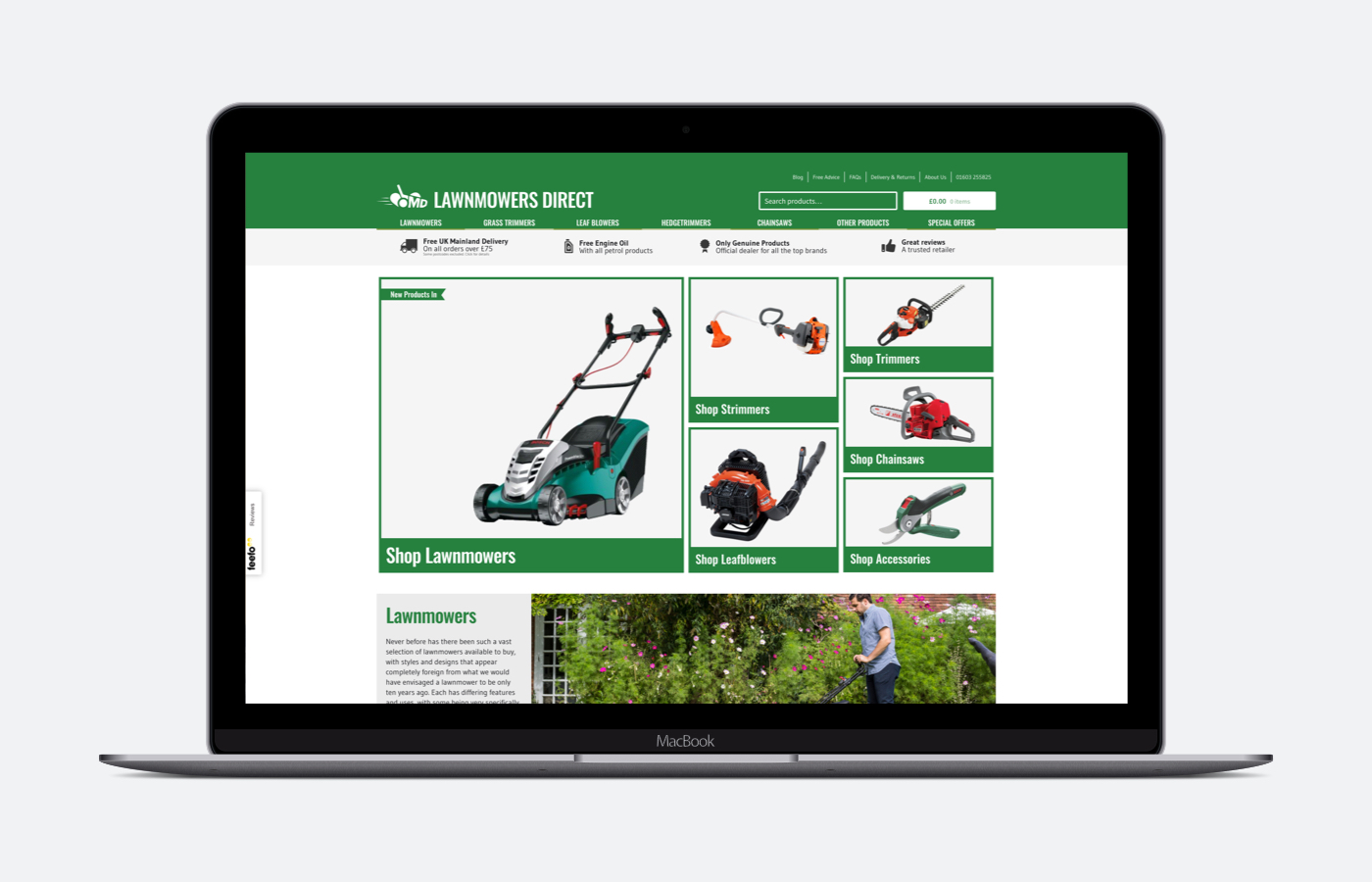 Lawnmowers Direct Website Goes Live