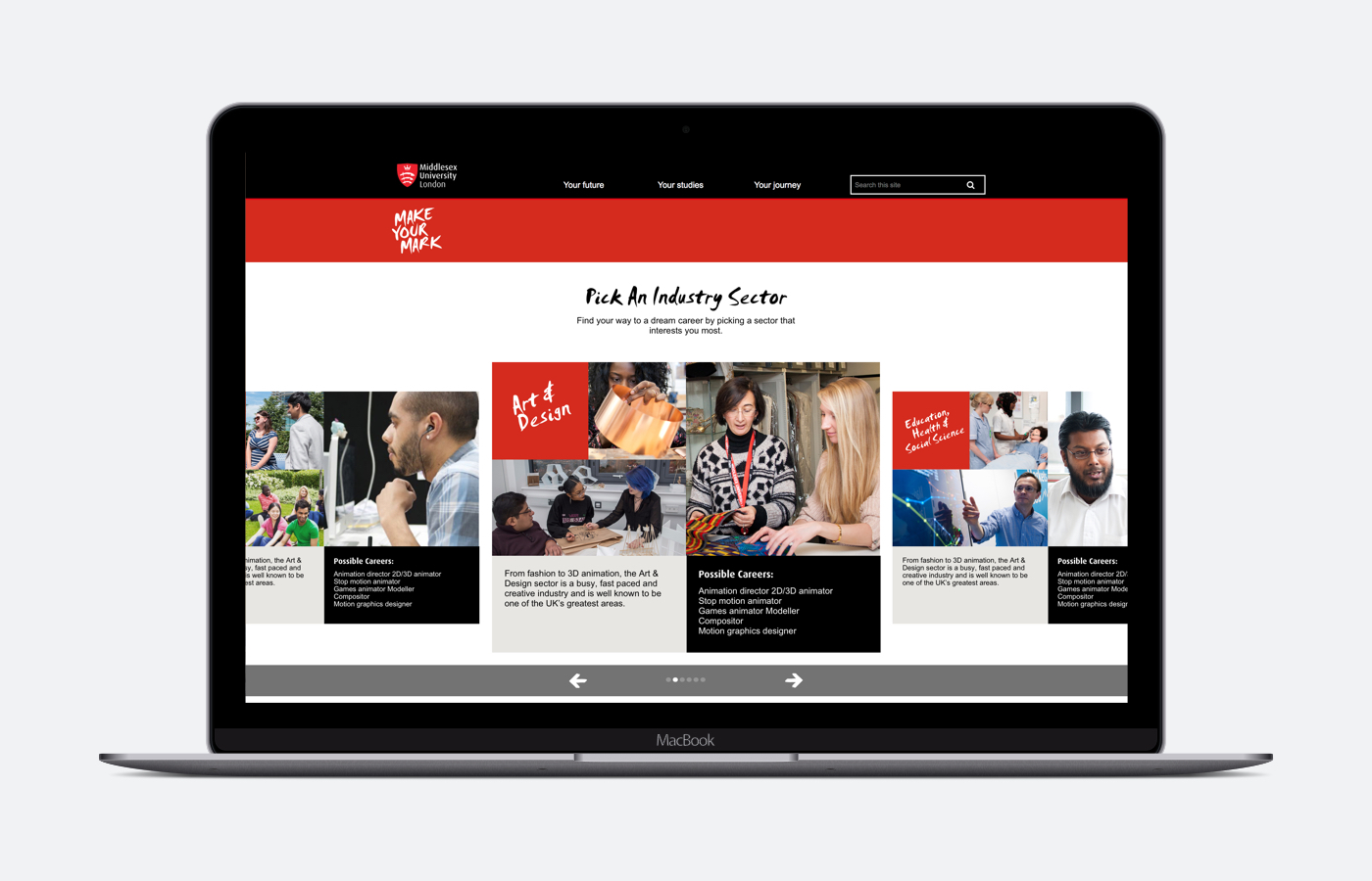Middlesex University launch Make Your Mark: Pathways app