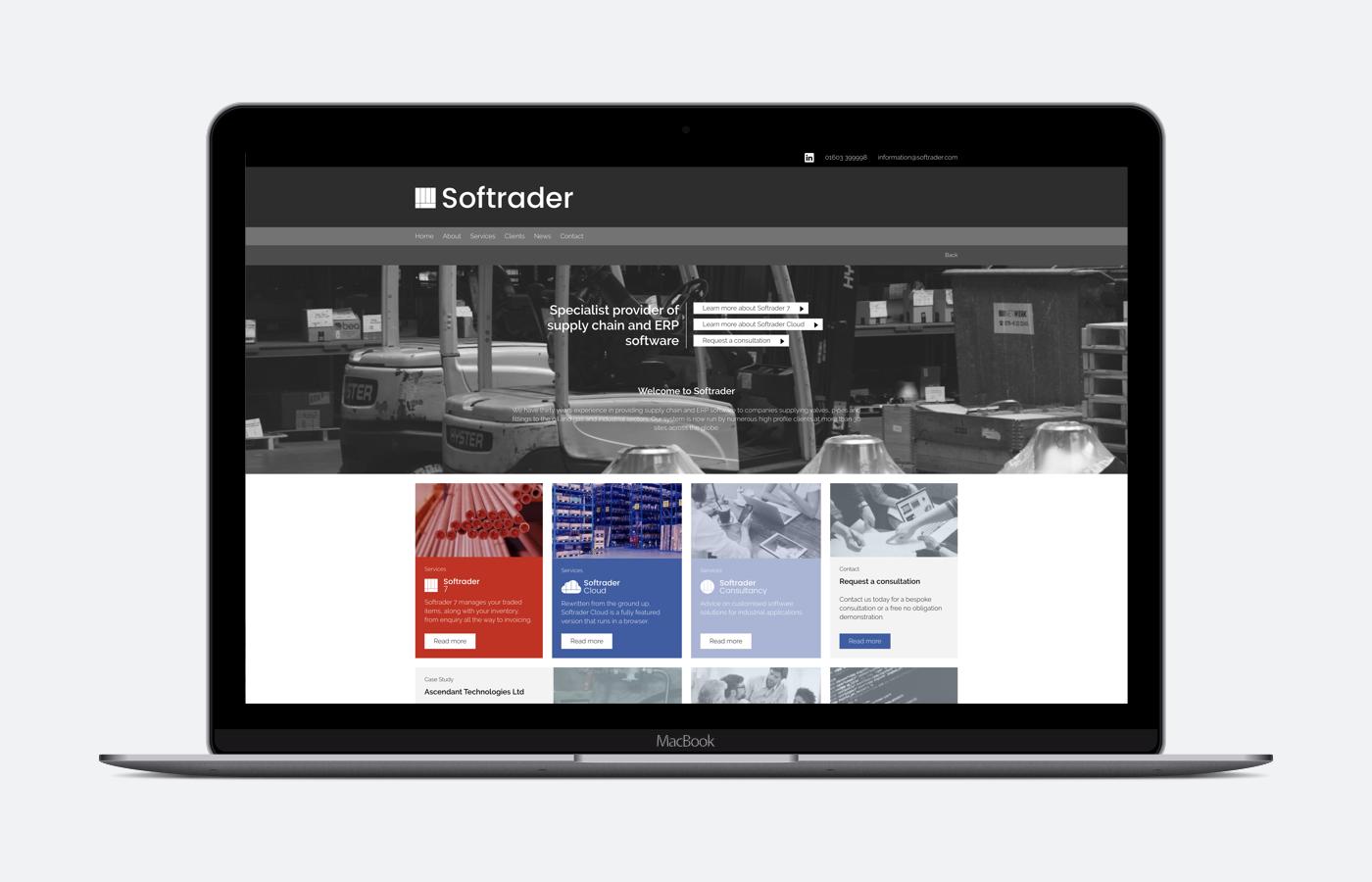 Softrader Website Design and Development