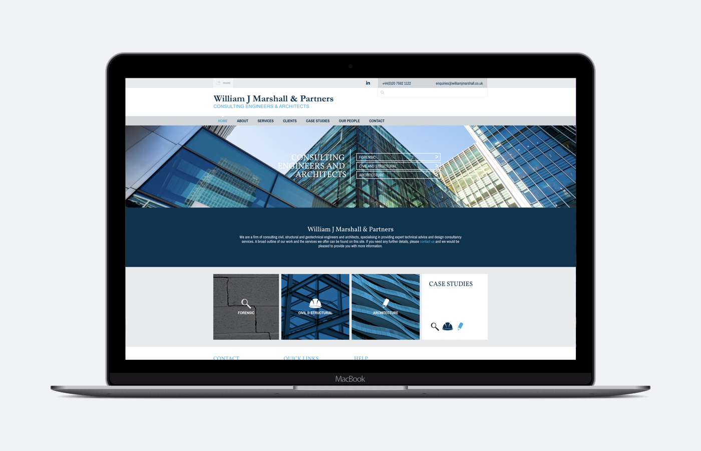 William J Marshall and Partners Responsive Website Development